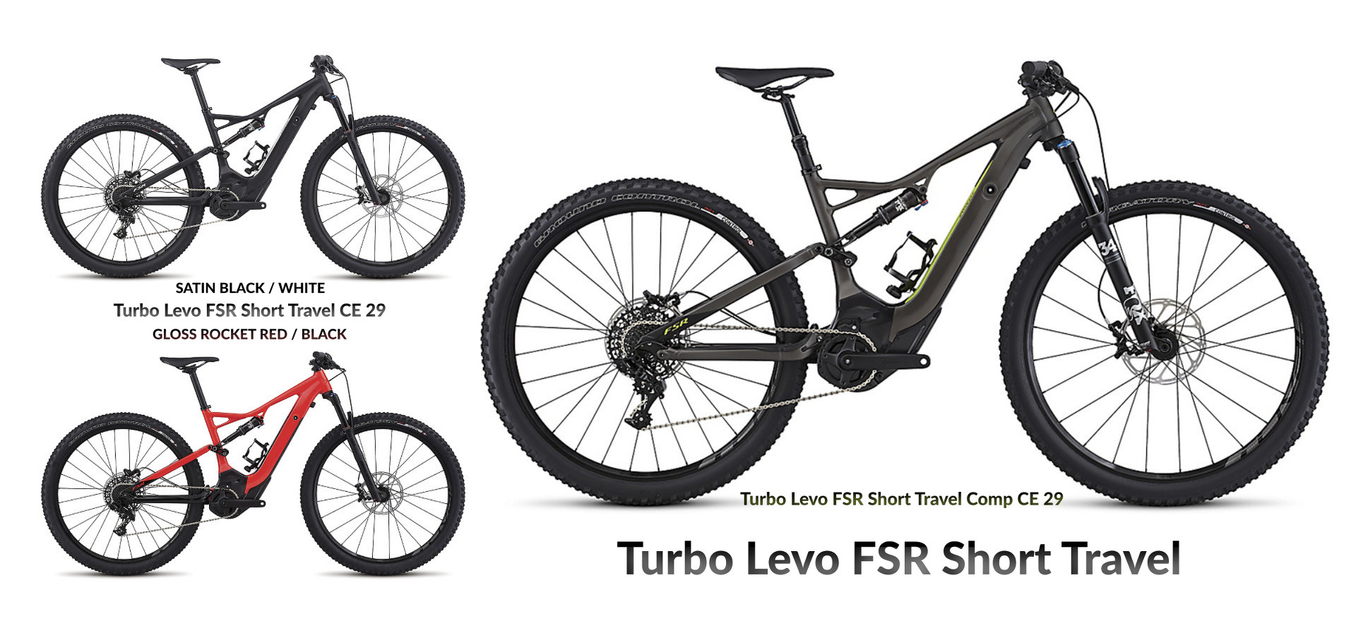 2017 Specialized Turbo Levo Short Travel Modelle