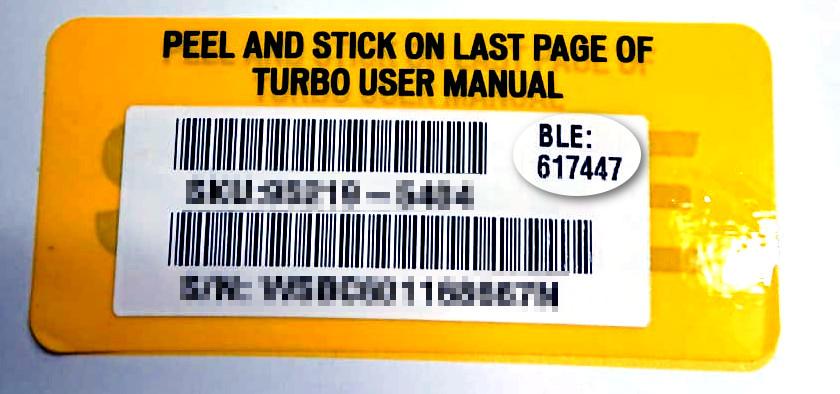 Specailized Turbo Levo BLE Code