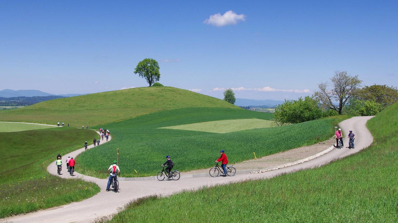 Flyer Werksbesichtigung E-Bike-Tour idyllische Schweiz Radhaus Kastner