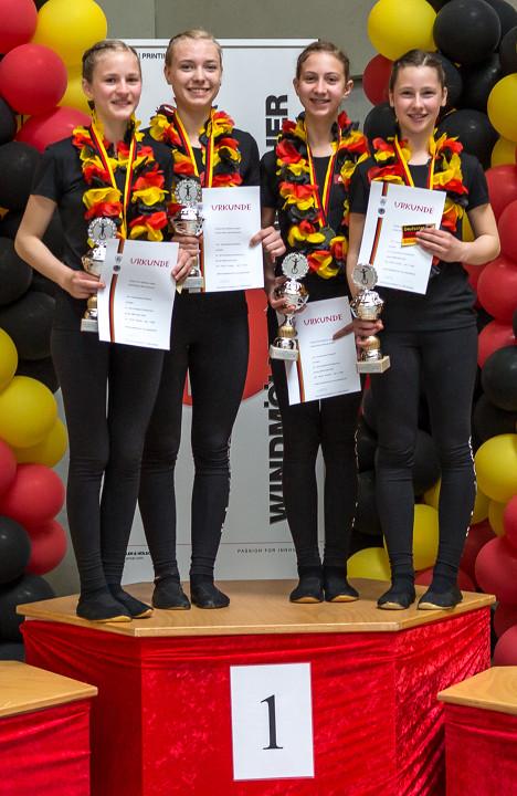KRS Rebland e.V. Varnhalt - Schüler-Manschaft Deutsche Meister 2016 4er Einrad
