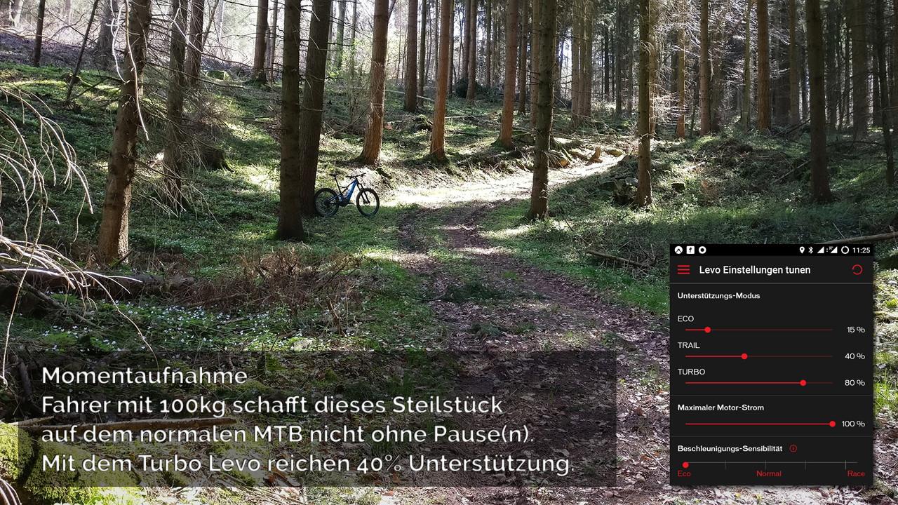 Turbo Levo FSR 6Fattie in sehr steilem Waldstück