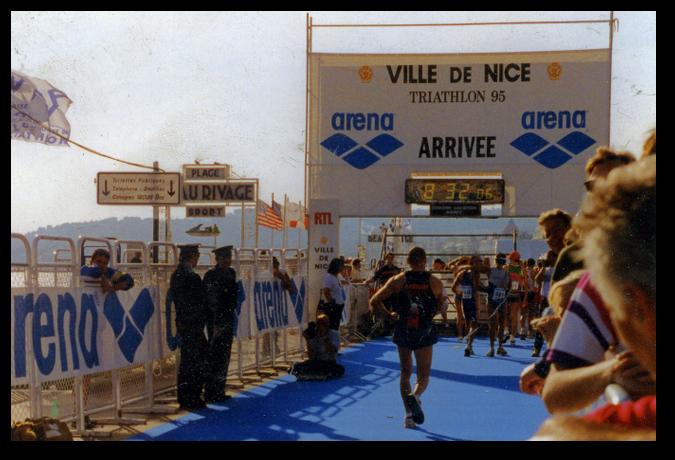 Anton Kellerer 1995 beim Ville de Nice Triathlon
