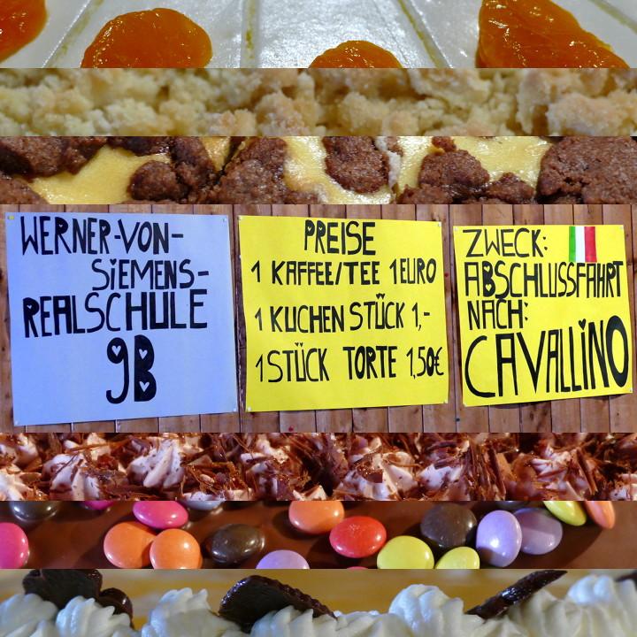 Kaffe und Kuchen der neunten Klasse der Werner-von-Siemens-Realschule