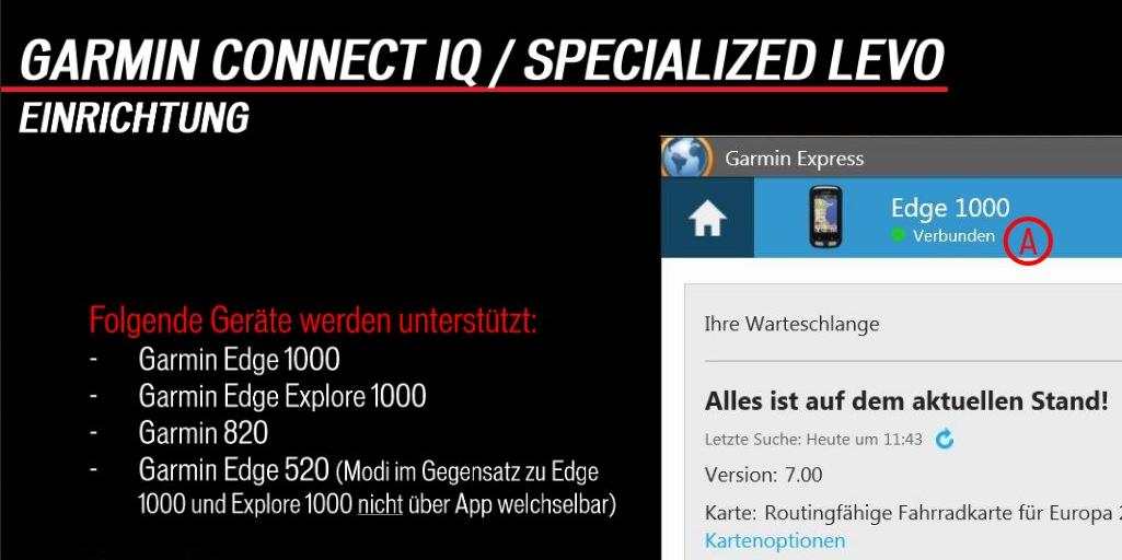 Garmin Connect IQ mit Turbo Levo koppeln Anleitung
